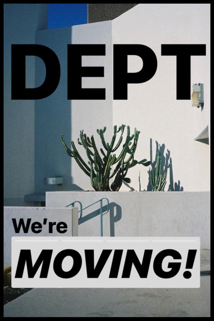DEPT@VACANTがキャットストリートに移転。オンラインストアもリニューアルオープンします!