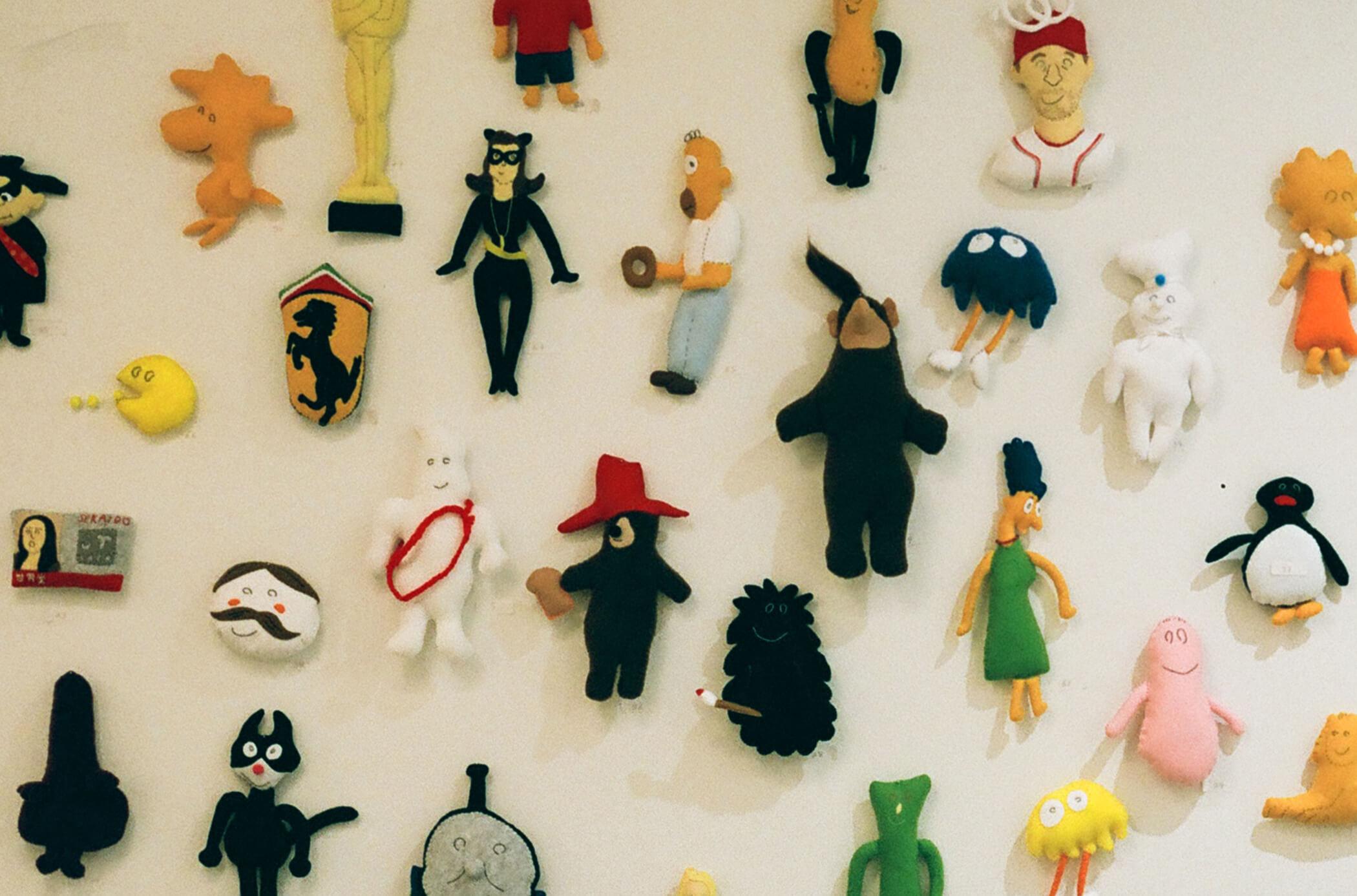 話題のぬいぐるみアーティスト長谷川有里の個展が見たくて京都まで。
