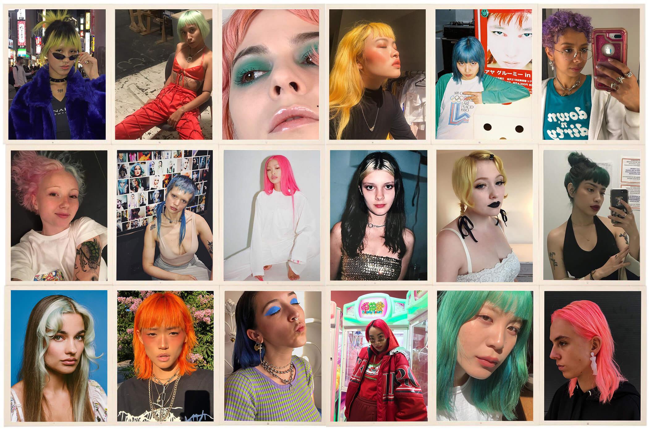 何色にだってなれる! 自由にヘアカラーを楽しんでいる女の子たち。