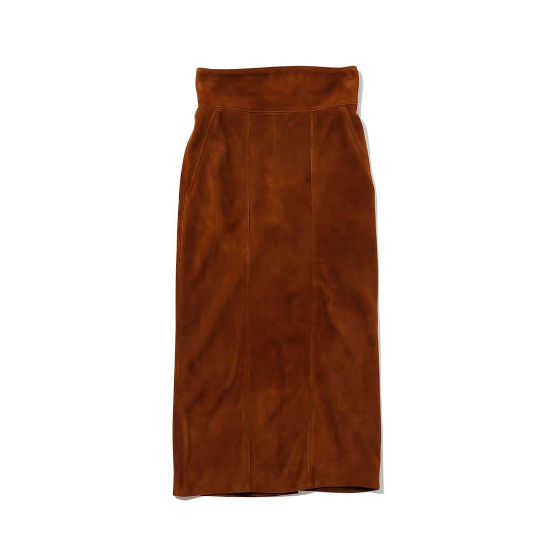 メヤメのゴートスエードスカート