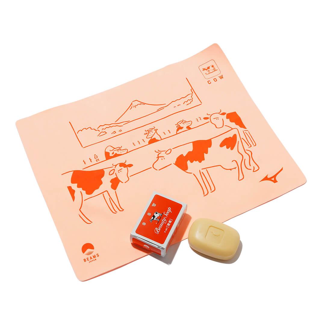 牛乳石鹸×ビームス ジャパンの橙箱石鹸 牛乳石鹸×ミズノ×ビームス ジャパンの吸水タオル