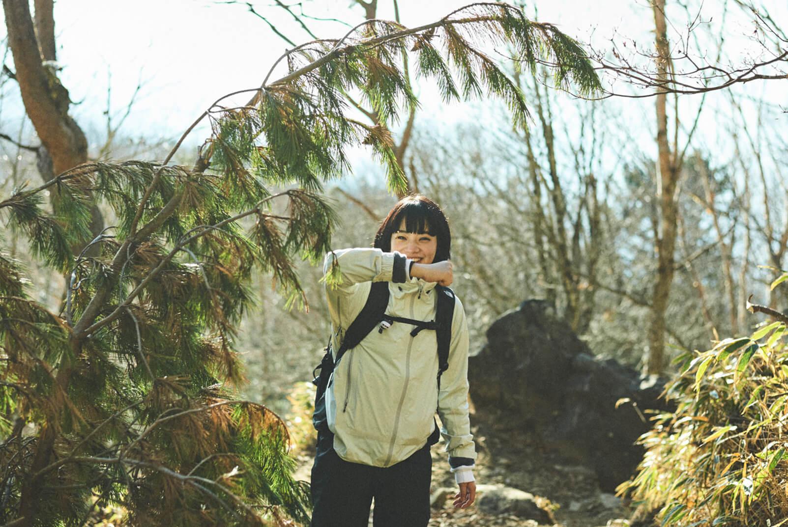 小松菜奈と山登り。