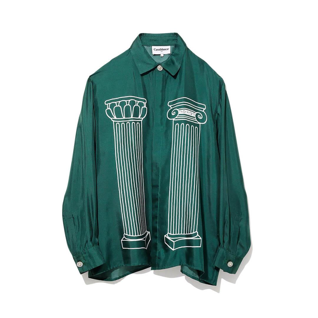 カサブランカのシルクシャツ