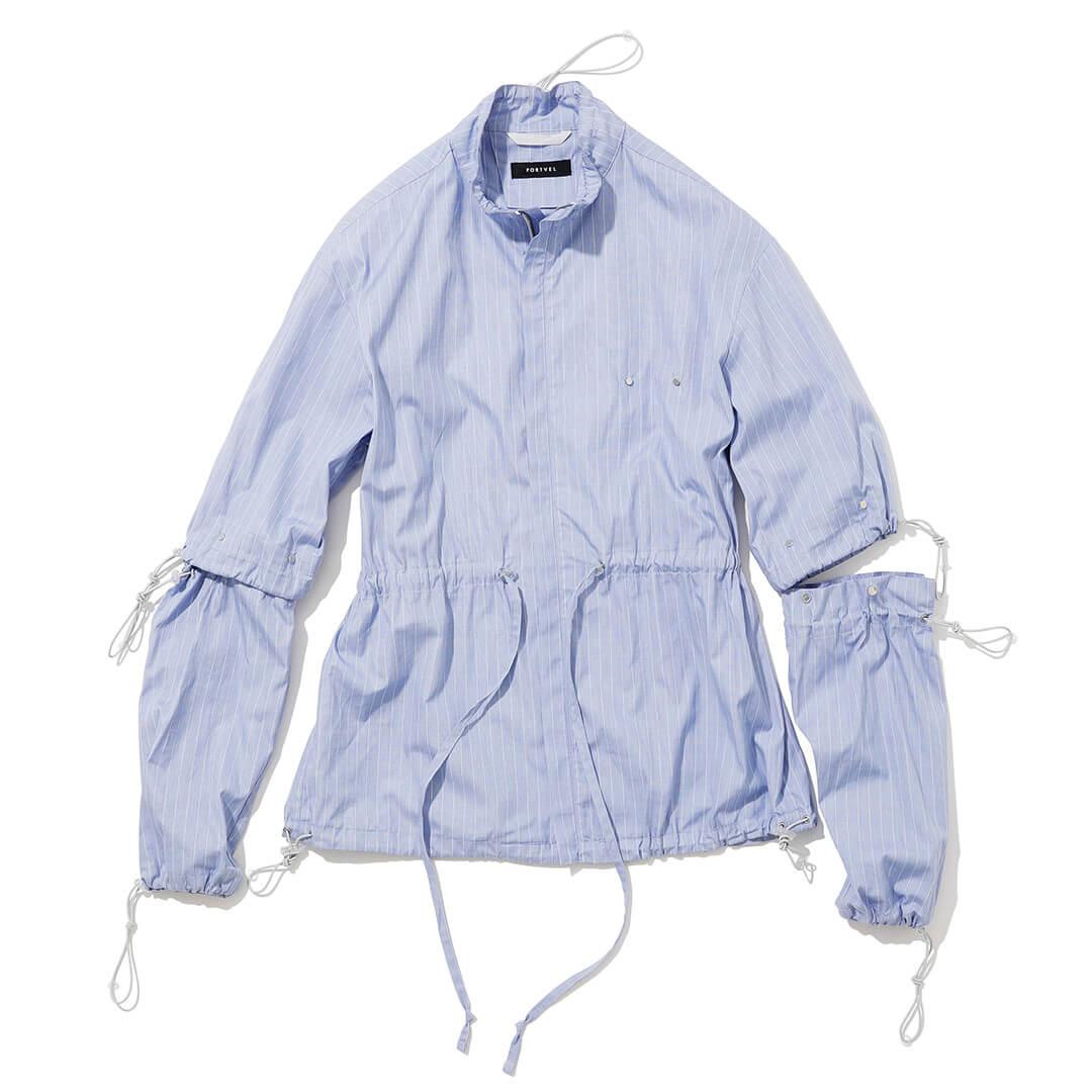 ポートヴェルのドローストリングスシャツ