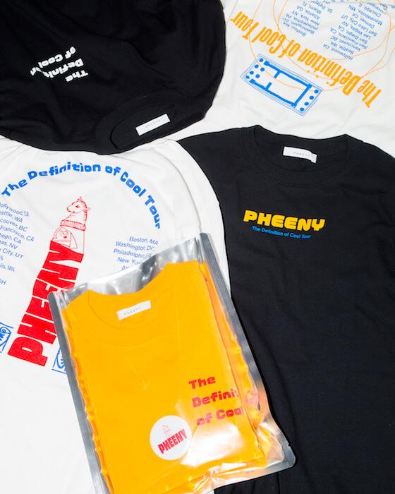 別注Tシャツのテーマは架空のライブツアー、 PHEENYの秋冬コレクション販売会が開催されます。