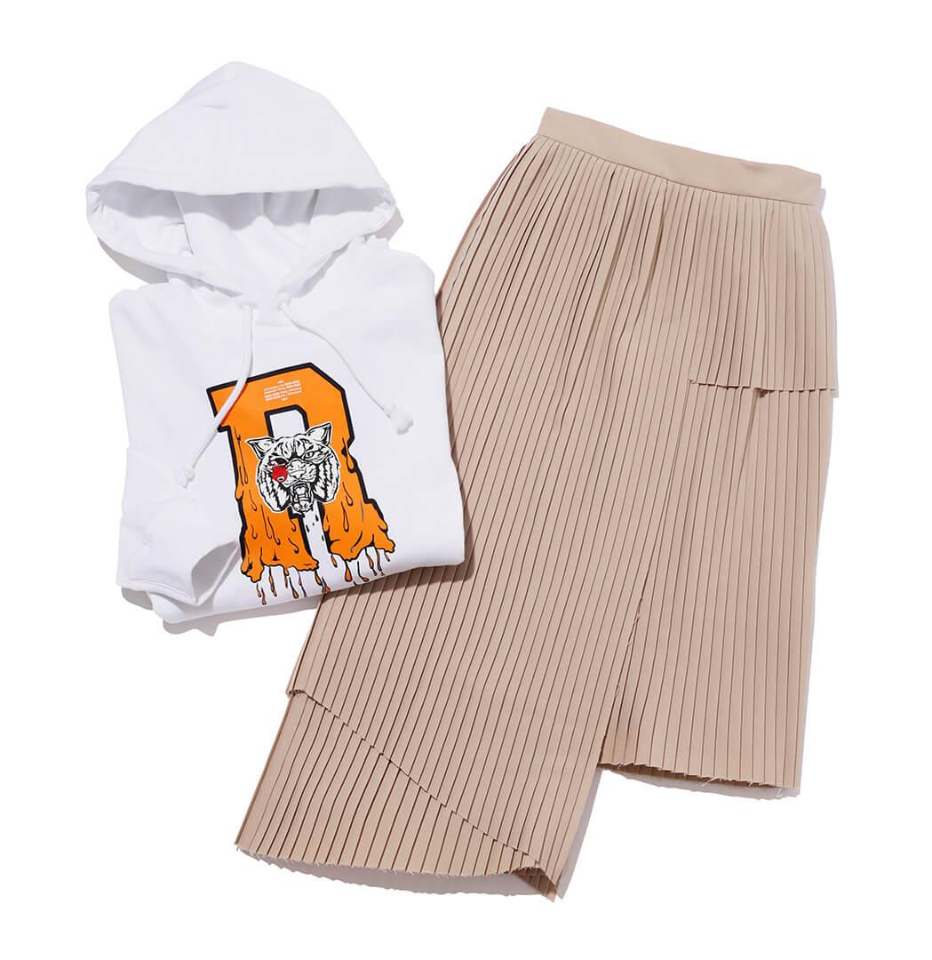 ロックのパーカ&スカート