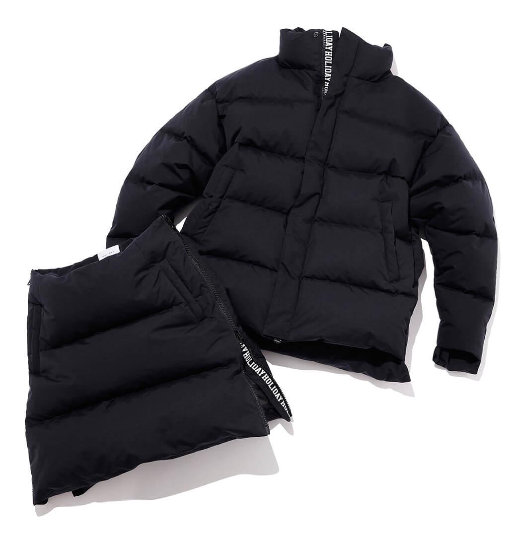 ホリデイのダウンジャケット&スカート