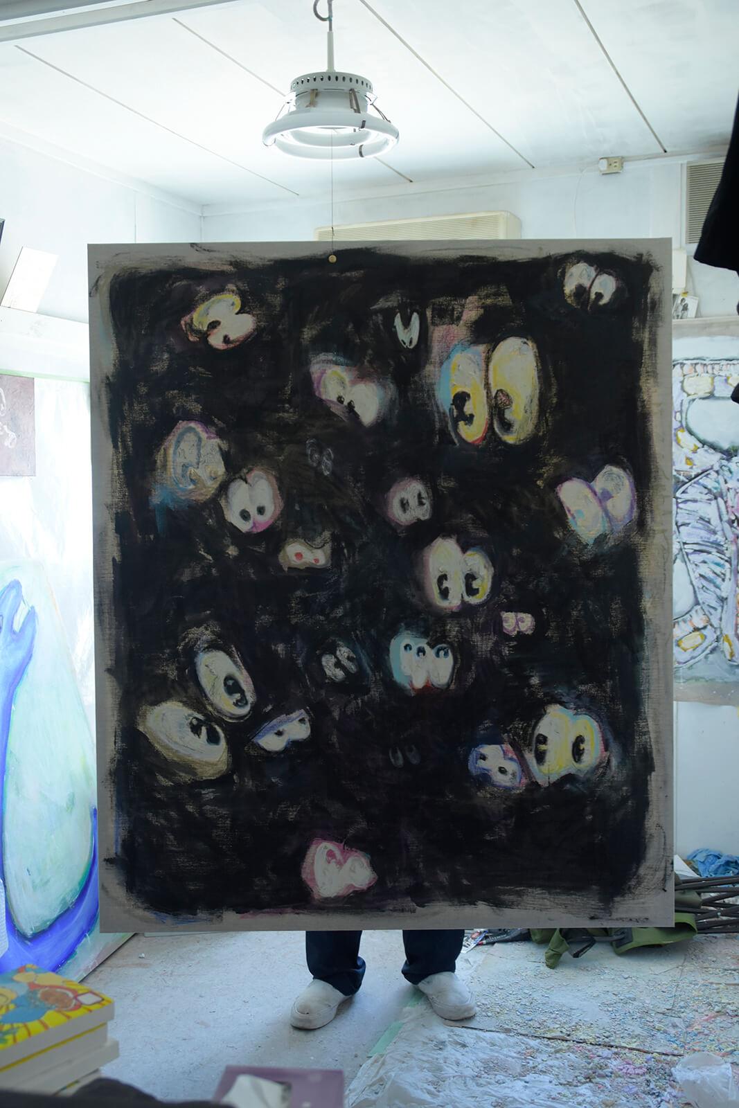 馬喰町のギャラリー、PARCELで若手アーティストをフックした短期の展示がスタート。1人目はKINJOです。