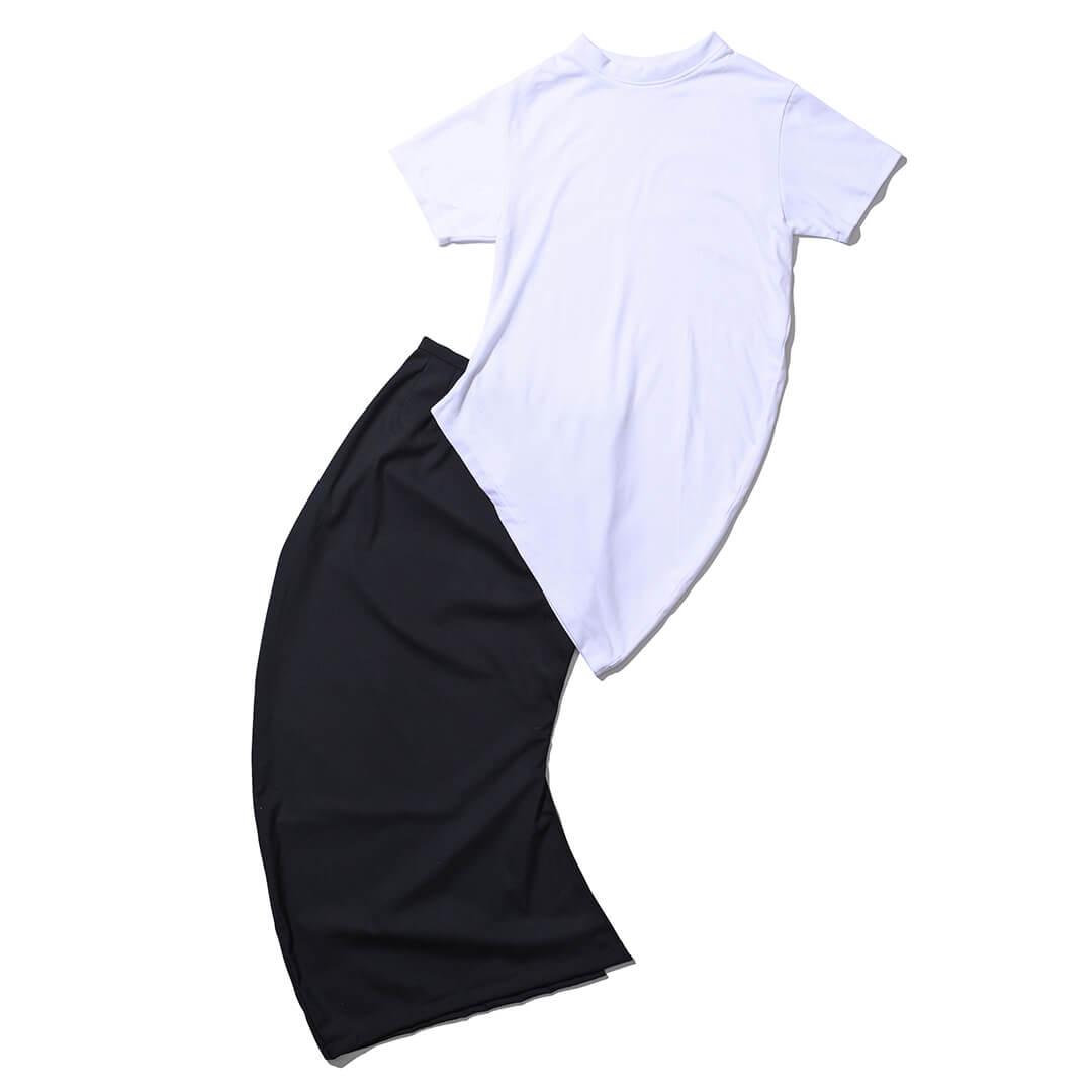 ノリエノモトのTシャツとスカート