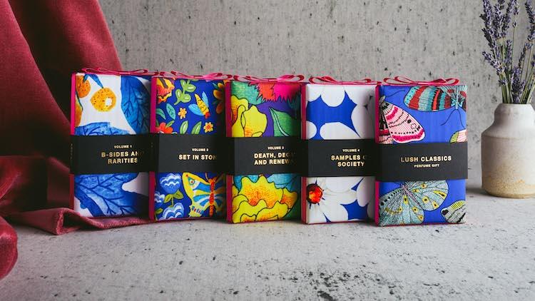 カラフルな風呂敷に目を奪われる! サステナブルなパッケージに包まれたLUSHの『パフュームギフト』で香りの旅へ。