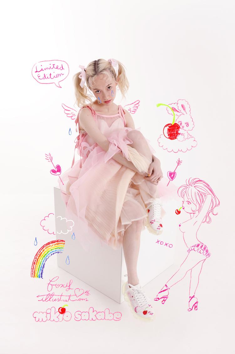 foxy illustrationsが「履くジュエリー」に。ミキオサカベとのコラボシューズが発売です!