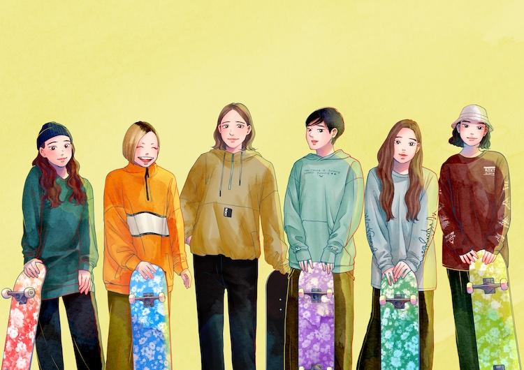 ガールズスケーターの新定番ウェアはROXYで。『Sketchy』のキャラクターたちがローンチを彩ります。