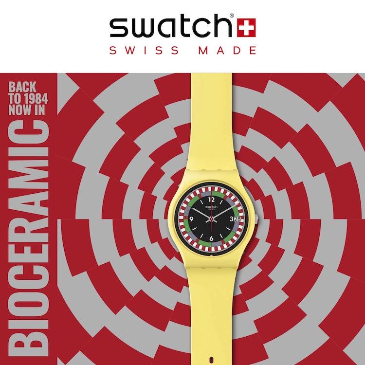 1984年のスウォッチがリバイバル! サステナブル素材に生まれ変わって登場です。